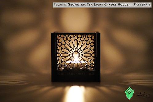 Islamic Geometric Tea Light Candle Holder : Pattern 1