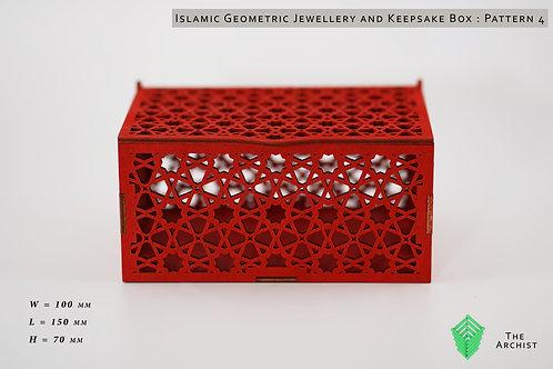 Islamic Geometric Jewellery and Keepsake Box : Pattern 4