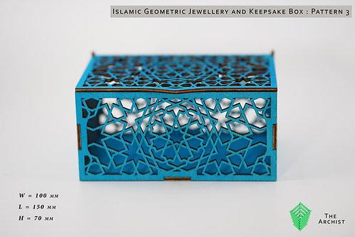 Islamic Geometric Jewellery and Keepsake Box : Pattern 3