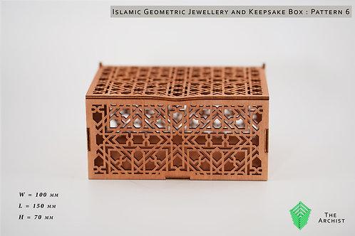 Islamic Geometric Jewellery and Keepsake Box : Pattern 6