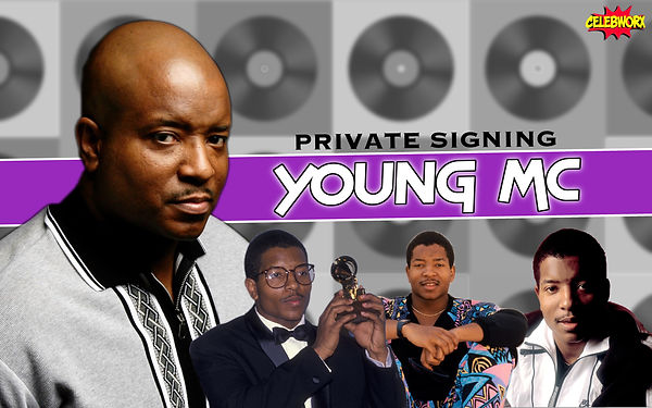 Young MC Banner Private Signing CelebWor