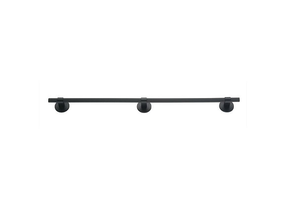 HIGHGATE KNURLED EXTRA LONG HANDLE WITH ROUND PLATES