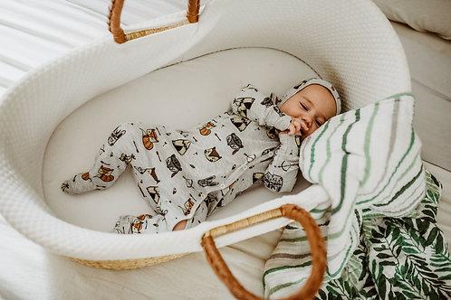 Meža zvēru dizaina pidžamma/rāpulītis