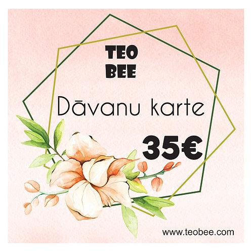 Digitāla dāvanu karte ar ziedu dizainu  25€-50€ vērtībā