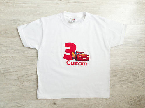 Personalizēts bodijs vai T-krekls ar Zibeni Makvīnu, vārdu un ciparu
