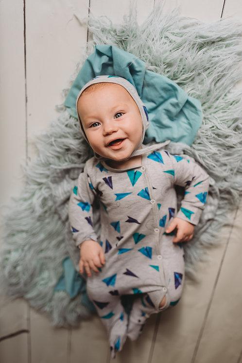 Lidmašīnu dizaina pidžamma/rāpulītis