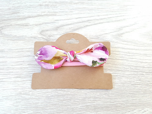 Akvareļu ziedu raksta matu lenta