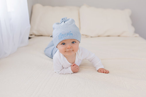 Personalizēta maigi zila cepure