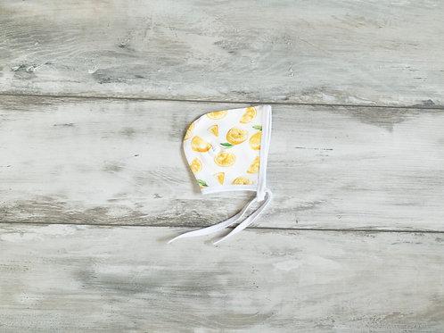 Citronu dizaina sienama cepurīte