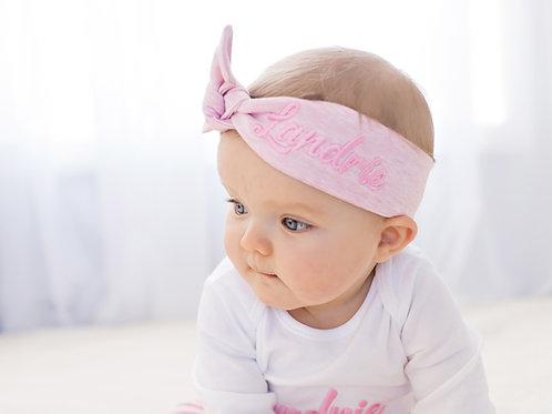 Personalizēta maigi rozā matu lenta