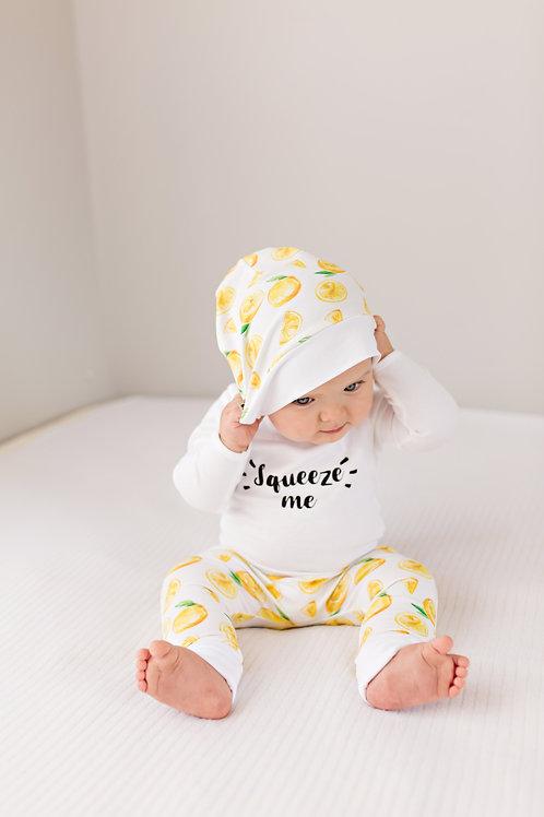 Citronu bodijs, bikses un cepure