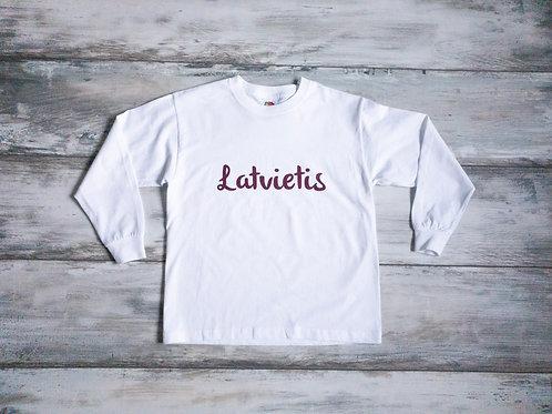 """Krekls ar garām rokām - """"Latvietis"""" (izm. 116cm)"""
