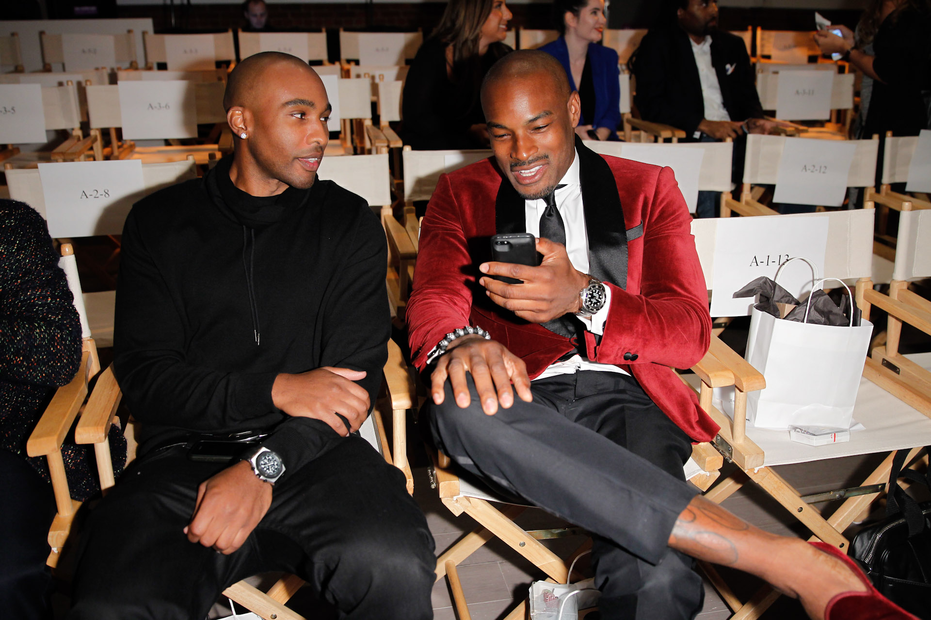 13_Model Tyson Beckford sitting front row at STYLE360