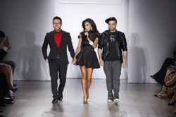 09_Lilly Ghalichi, Walter Mendez, and Michael Costello taking their final bow at the WantMyLook show