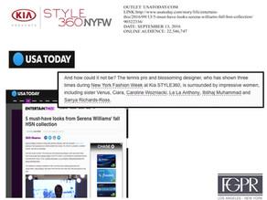 USA Today talks Kia STYLE360 NYFW 2016