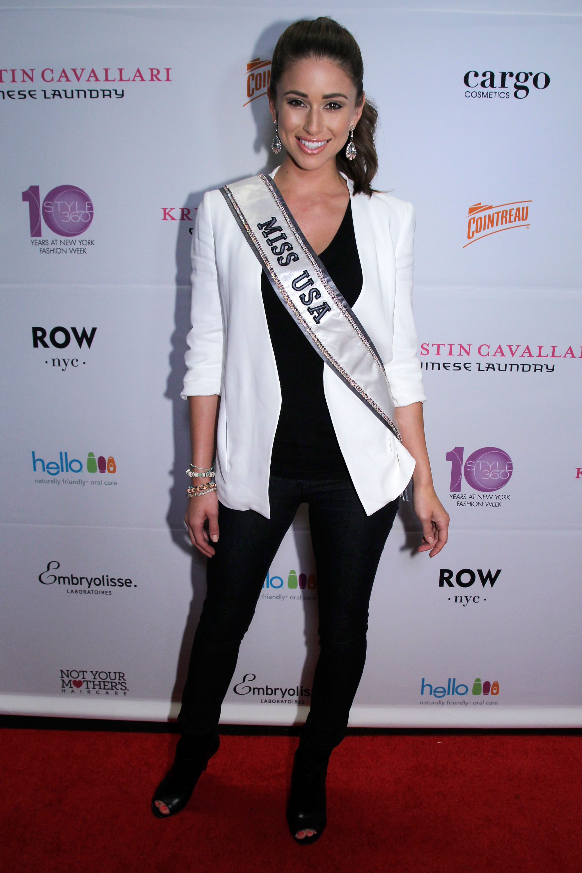 20_Miss USA Nia Sanchez on the red carpet at the Kristin Cavallari by Chinese Laundry Preview Party