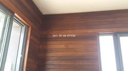 חיפוי קיר מעץ