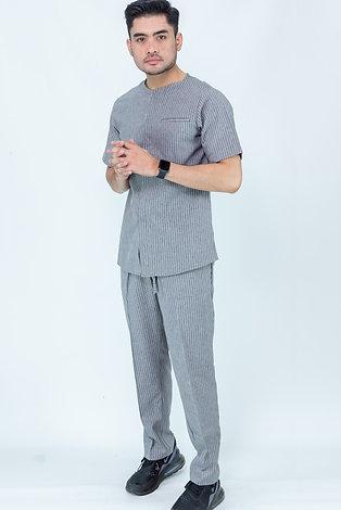 Parviz Streetwear Set   Light Grey Stripes
