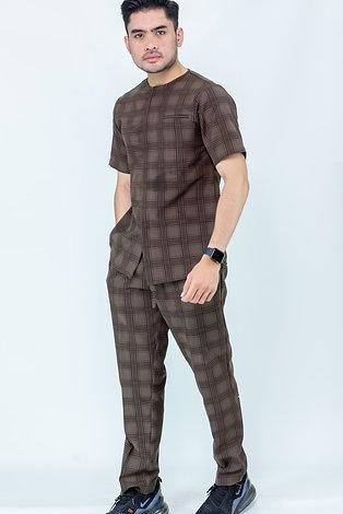 Parviz Streetwear Set   Coffe Plaid