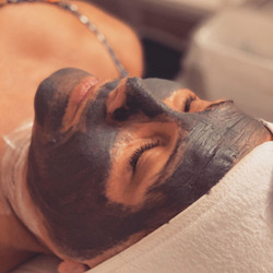 In the treatment room, I offer the Bioelements Deep Detox Facial and Pollution treatment for people