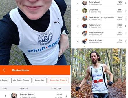 Tatjana Brandt und Patrik Stein gewinnen Lila-Eule-Strava-Challenge 2020