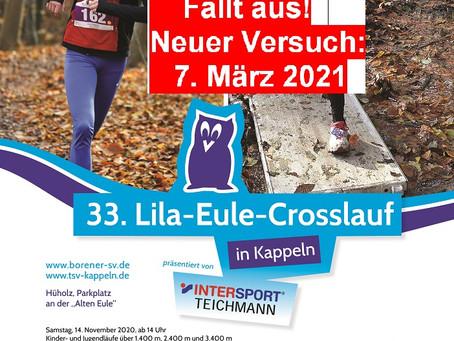 Lila-Eule-Cross muss im November ausfallen - Neuer Versuch am 7. März 2021