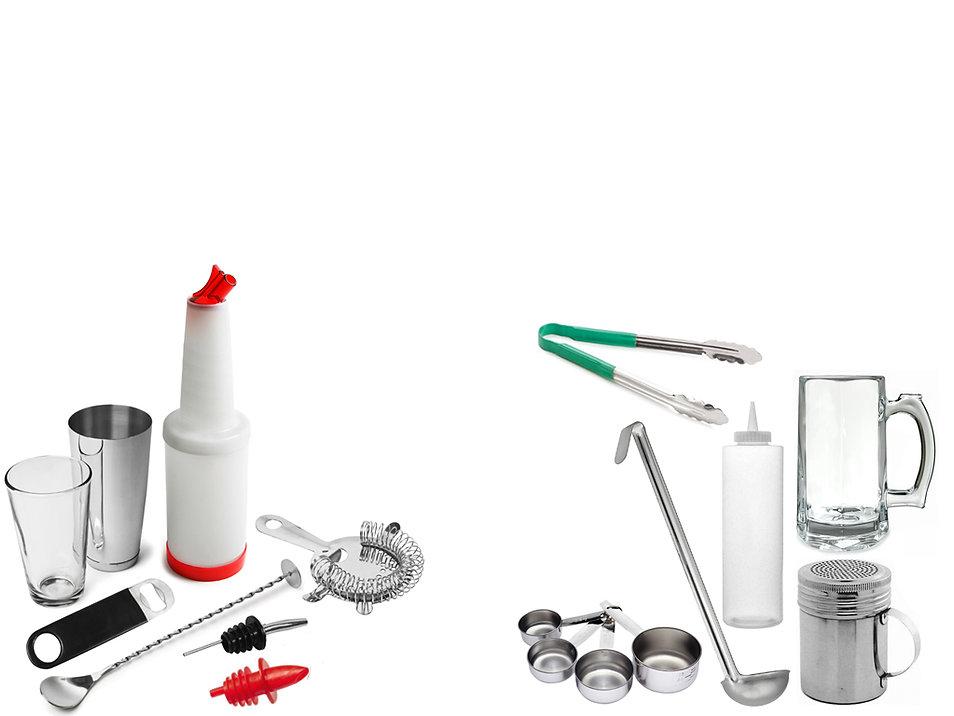 Produtos e utensílios para bar e bartender