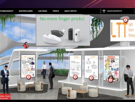 Light Touch Technology Inc.はシンガポール国内最大級のイノベーション・イベント「SFF×SWITCH」にJETRO OSAKAブースにてWEB出展しています。