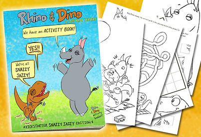 Rhino & Dino Snazzy Jazzy Activity Booklet