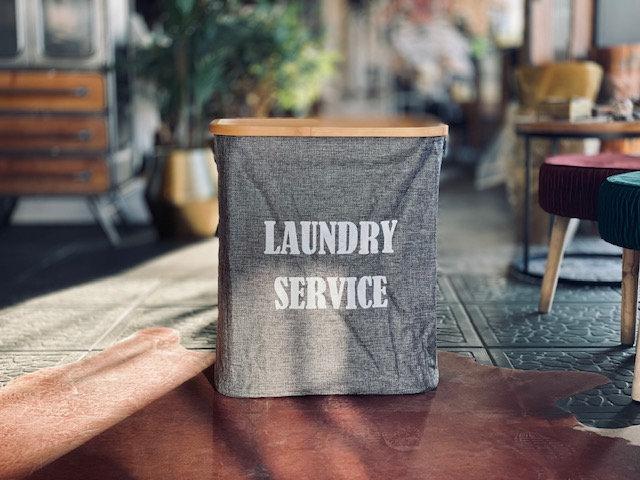 Canasto Laundry service rectangular gris