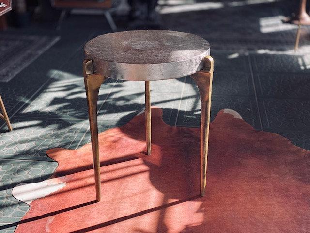 Mesa bicolor plata dorado