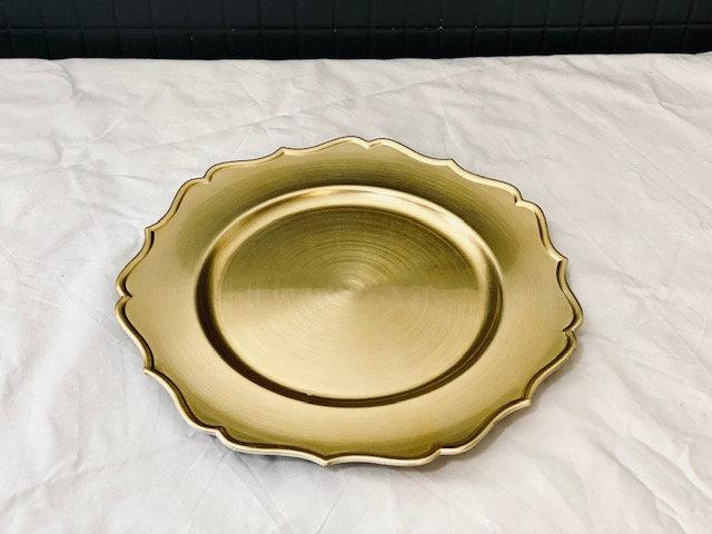 Posa plato dorado provenzal