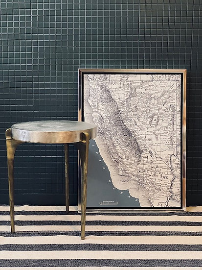 Cuadro Mapa California 61x81