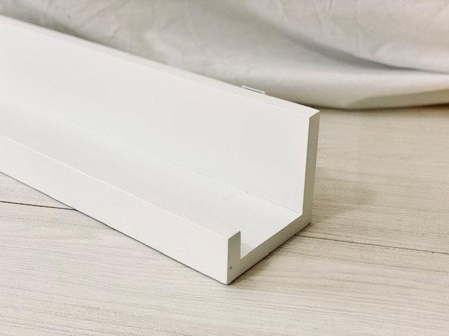 Repisa Corchete 100 cm blanca