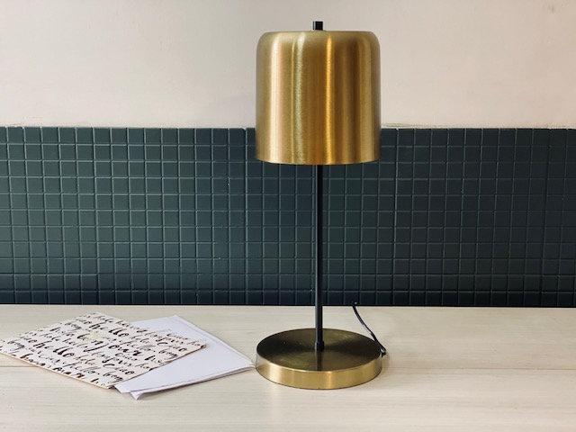 Lámpara Bronce mesa campana
