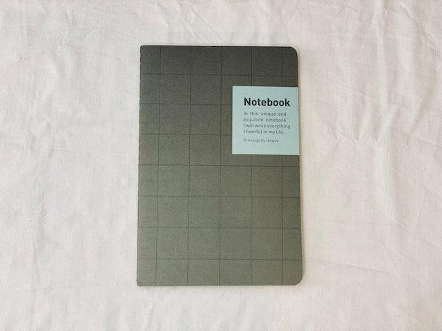 Libreta Notebook malla Gris oscuro