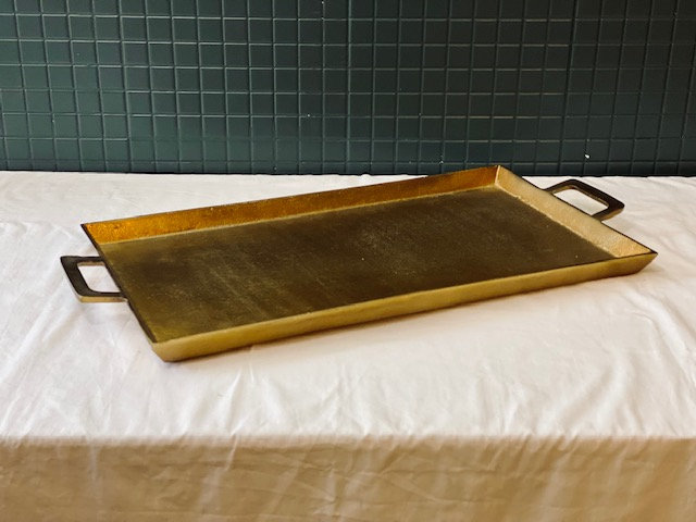 Bandeja bronce rectangular L