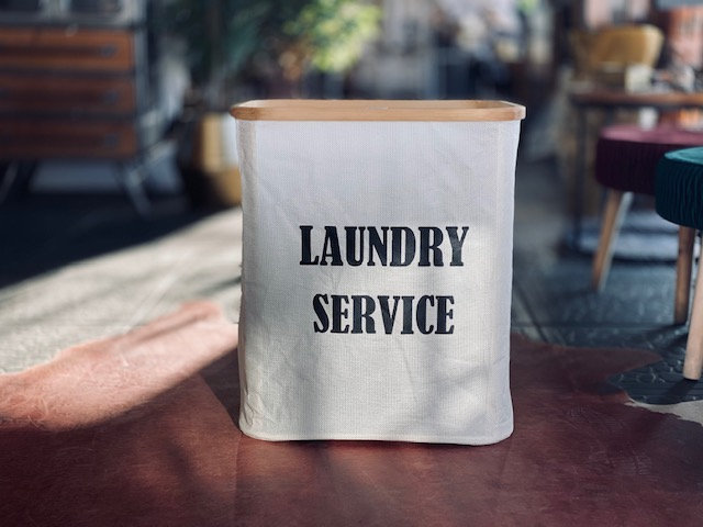Canasto Laundry service rectangular blanco