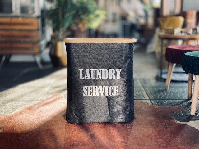 Canasto Laundry service rectangular negro