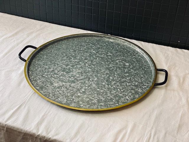 Bandeja circular latón grande