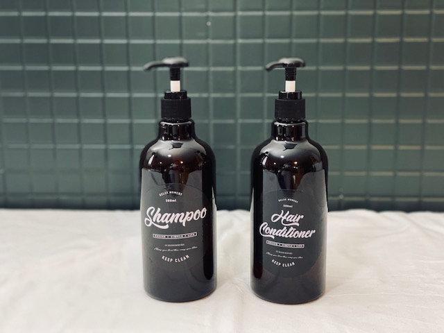 Set dispensadores Shampoo y Bálsamo