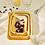 Thumbnail: Fuente rectangular S enlozado amarillo