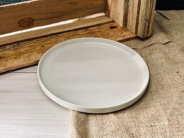 Plato pan horno blanco mate
