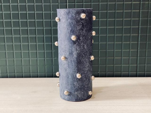 Vasija alta Perlas azul