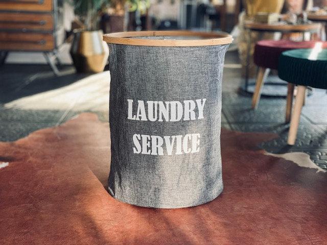 Canasto Laundry service redondo gris