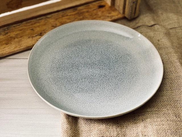 Plato fondo puntos gris