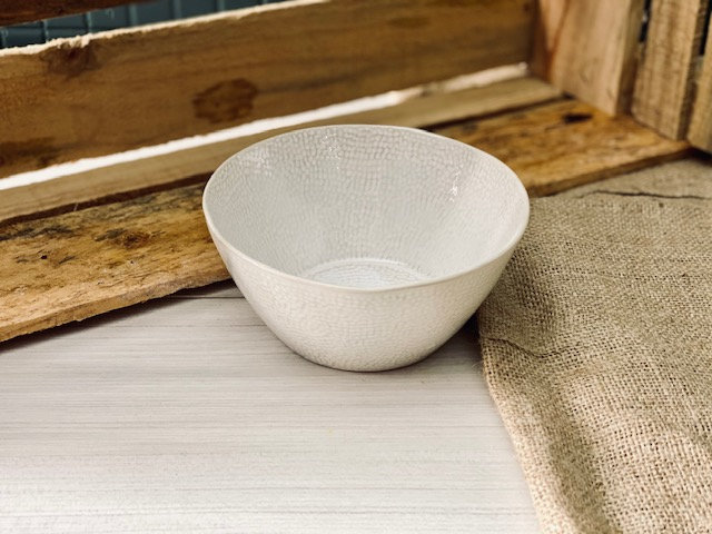 Bowl blanco horno texturizado