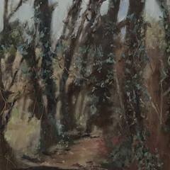 'Natural Succession'  Lorraine Taylor  Oil on paper  58 x 54cm  £525