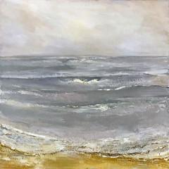 'Coastal Series, Early Dawn'   Gundra Nock  Oil on Canvas  81.5 x 81.5cm  £2400
