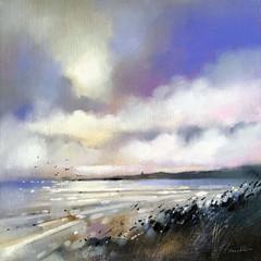 'West Sands, St Andrews' Emma S Davis RSW  Oil on Linen  63 x 63cm  *SOLD*